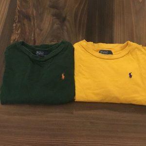 2 long sleeve Polo tops